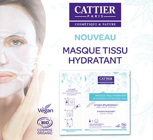 Masque Tissu Hydratant de la marque Cattier