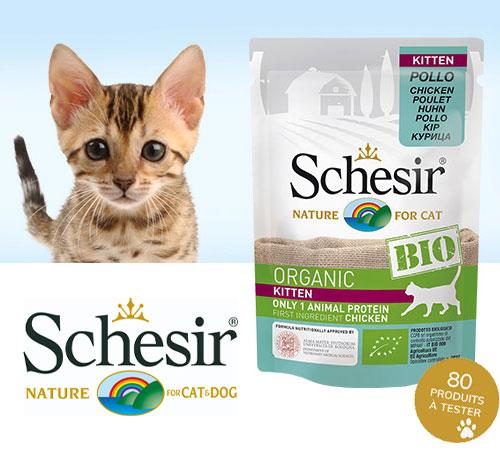 Sachets fraîcheur Bio Chaton de la marque Schesir