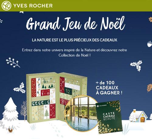 Calendrier de l'avent et pleins d'autres cadeaux grâce au Grand jeu de Noël de Yves Rocher