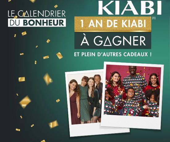 1 an de vêtements la marque Kiabi