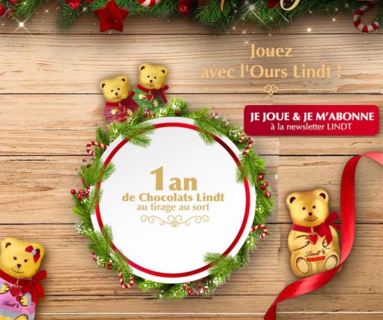 1 an de chocolats de la marque Lindt