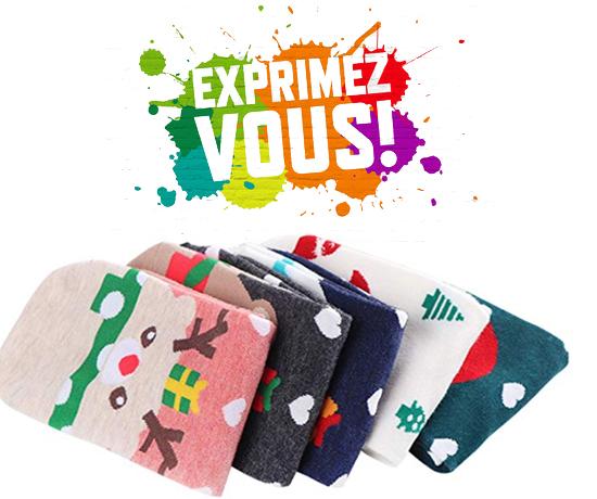 Chaussettes d'hiver et Noël de la marque Amazon
