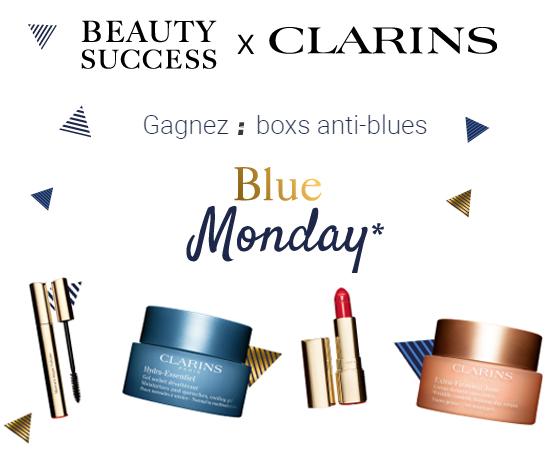 Box Beauté anti blues Clarins des magasins Beauty Success