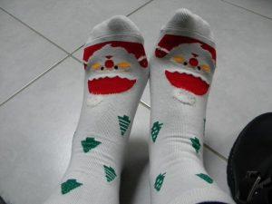 chaussettes hiver noël Dominique
