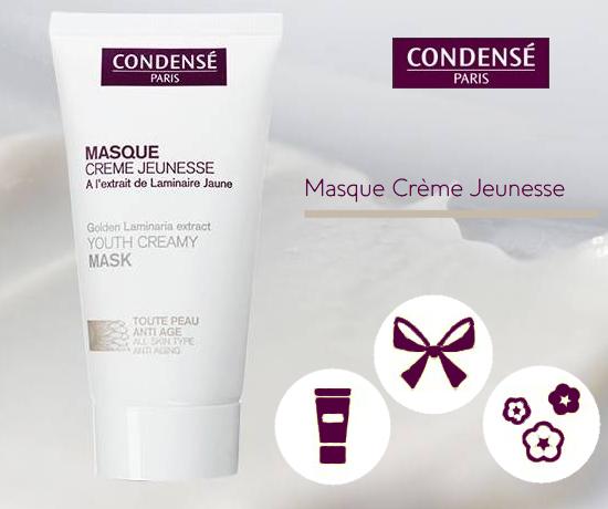 Masque Crème Jeunesse de la marque Condensé Paris