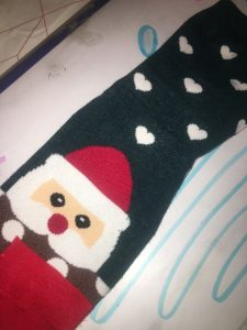 chaussettes hiver noël Elodie