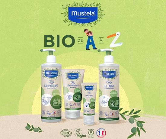 Gamme Soins BIO pour bébé de la marque Mustela