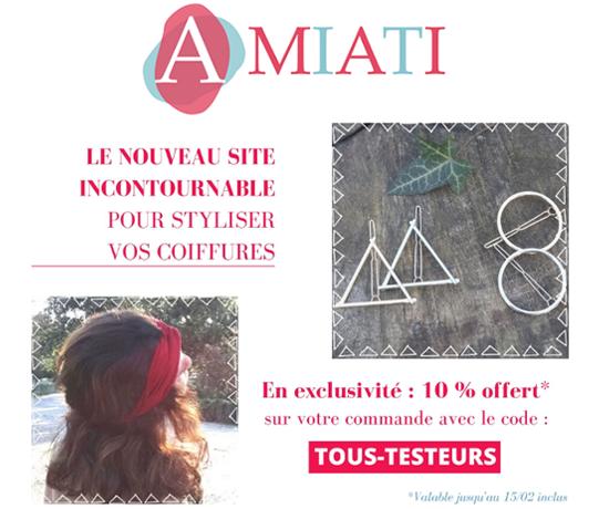 Code Promo bijoux de tête de la marque Amiati
