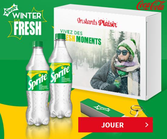 Box Dégustation Sprite Winter de la marque Coca-Cola Instant Plaisir