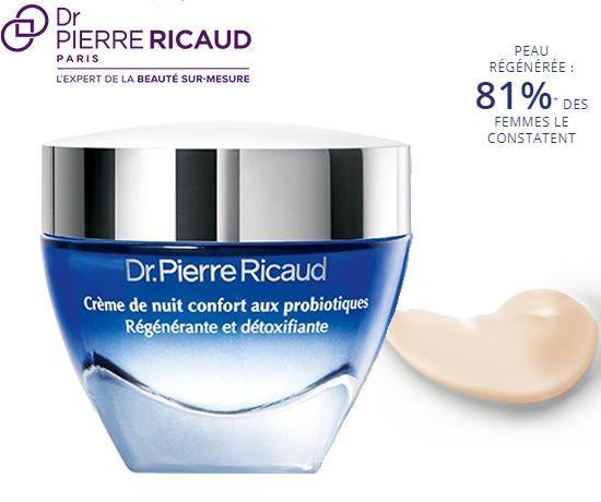 Crème de nuit confort aux probiotiques de la marque Dr Pierre Riacud