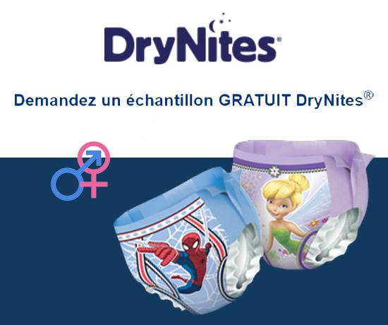 Couches pour enfants de la marque DryNites