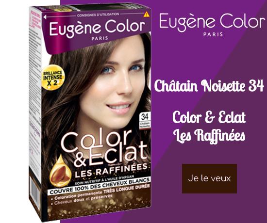 Kit de coloration Chatain Noisette 34 de la marque Eugène Color