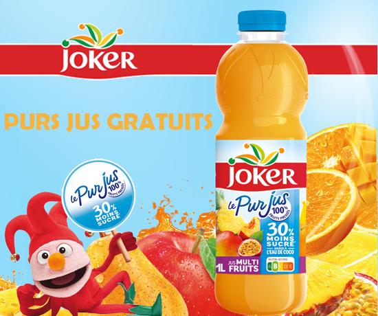 Purs Jus 30% Moins Sucrés de la marque Joker