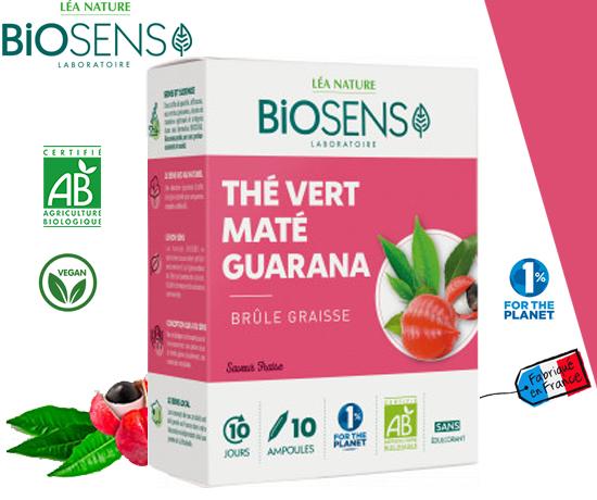 Ampoules Brûle Graisse Thé Vert Maté Guarana des Laboratoires Biosens