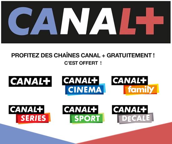 Chaînes et émissions gratuites du Groupe Canal +