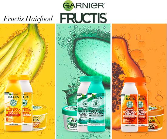 Routines Menus Hair Food de la marque Garnier Fructis