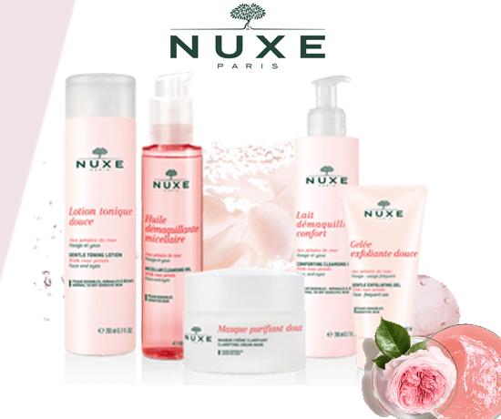 Gamme Very Rose Eau Micellaire et Huile Délicate à la Rose de la marque Nuxe Paris