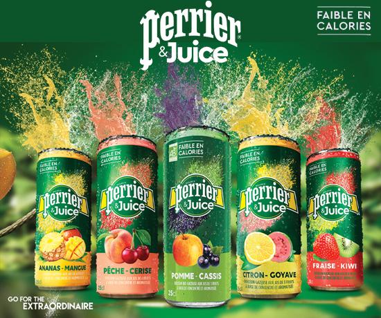 Pack Gamme Juice Faible en Calories de la marque Perrier