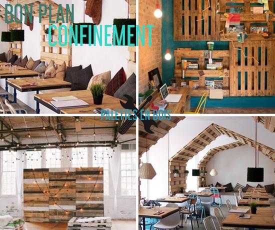 Bon Plan Gratuit spécial Confinement et découvrez les idées de décorations en palettes en bois