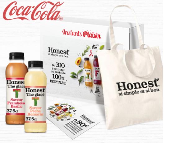 Participez au Grand Jeu Instant Plaisir et remportez une box degustation Honest de la marque Coca Cola