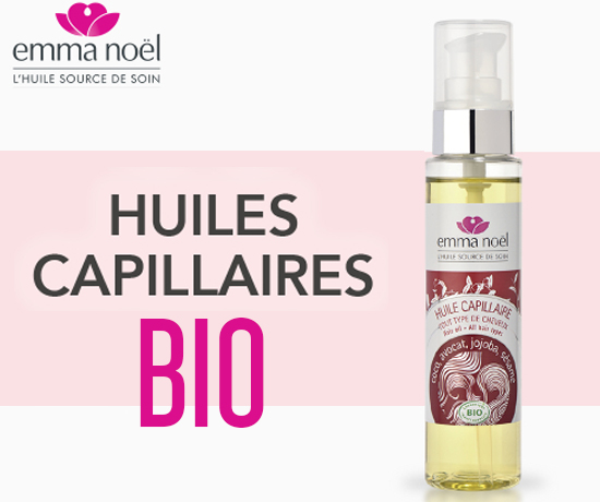 Huile Capillaire Bio de la marque Emma Noël