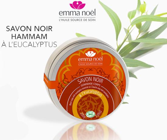 Savon Noir Hammam à l'Eucalyptus de la marque Emma Noël