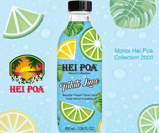 Huile pour cheveux et corps Tahiti Lime de la marque Hei Poa