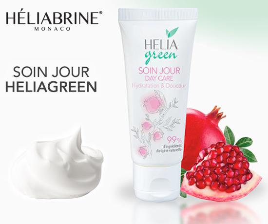 Soin de jour Hydratation & Douceur Héliagreen de la marque Héliabrine Monaco