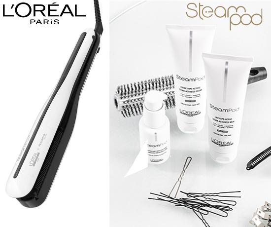 Lisseur SteamPod de la marque L'Oréal Paris