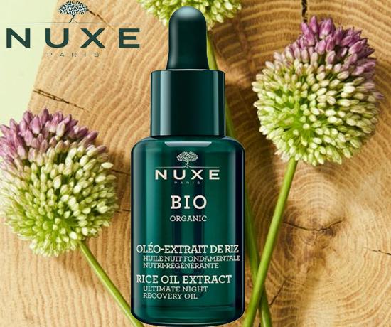 Huile Bio Organic de Nuit Fondamentale Nutri Régénérante de la marque Nuxe