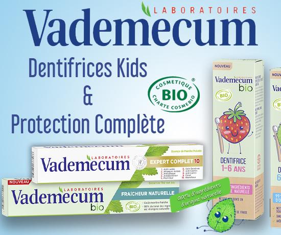 Dentifrices Protection Complète & Dentifrices Kids de la marque Vademecum