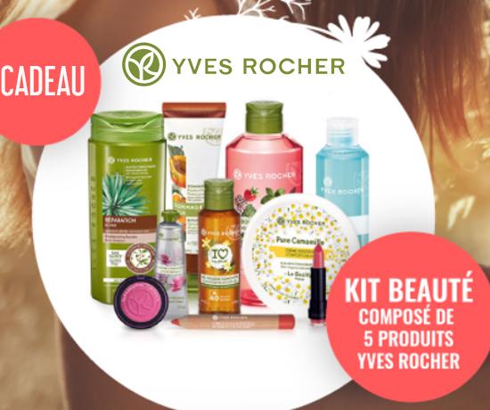 Participez au Grand Jeu Yves Rocher et remportez un kit de produits de beauté