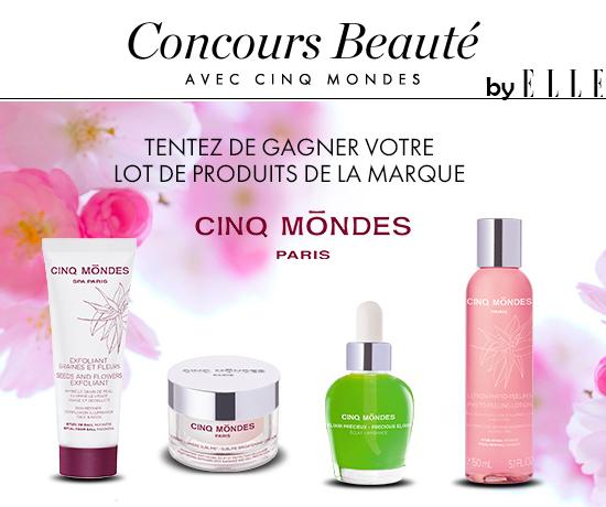 Participez au Grand Jeu Concours Cinq Mondes et remportez des lots de produits de beauté grâce à ELLE