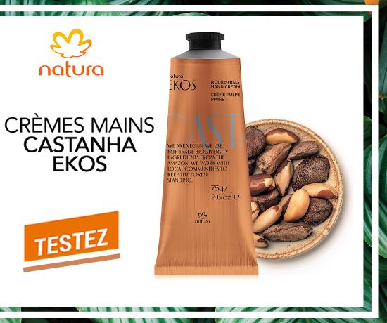 Crèmes pour les mains Castanha Ekos de la marque Natura