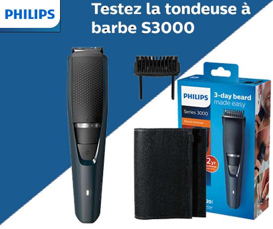 Tondeuse à barbe S3000 de la marque Philips