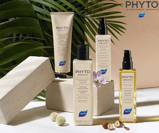 Rituel de soins pour cheveux bouclés et frisés de la marque Phyto Specific