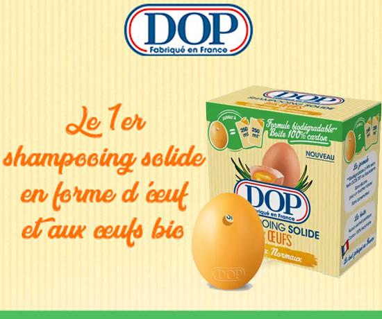 Shampoing Solide en Forme d'œufs de la marque DOP