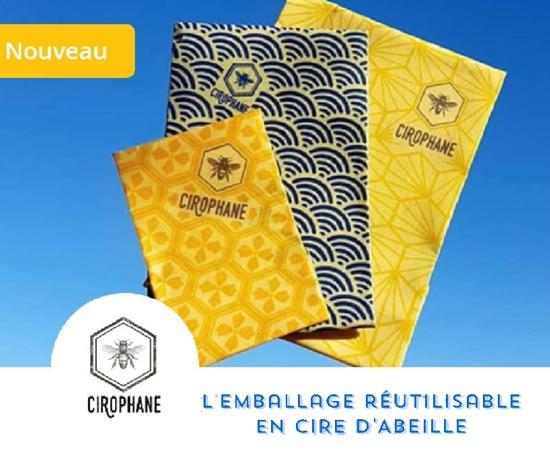 Emballages 100% éthiques et naturels à la Cire d'abeille de la marque Cirophane
