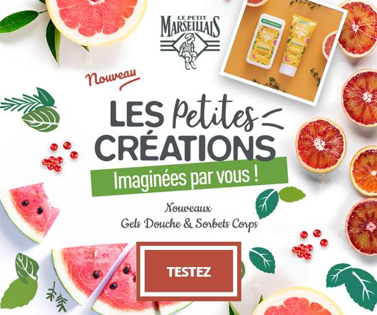 Gels Douche et Sorbets Corps Les Petites Créations de la marque Le Petit Marseillais