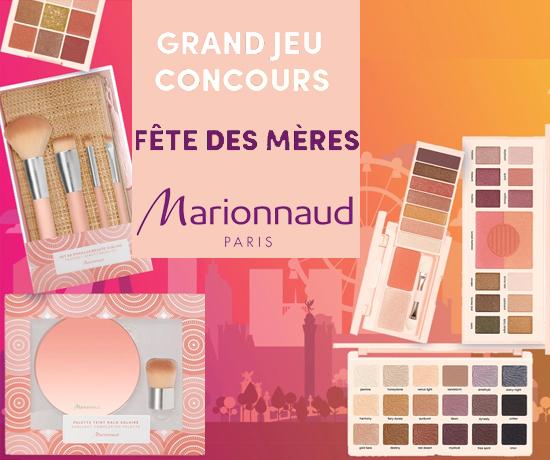 Participez au Grand Jeu Concours Marionnaud pour la Fête des Mères et remportez des cadeaux et un lots de produits de beauté