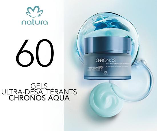 Chronos Aqua Gel Ultra-Désaltérant de la marque Natura