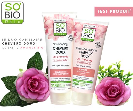 Duo Capillaire Cheveux Doux au lait d'Amande Bio de la marque So Bio'etic