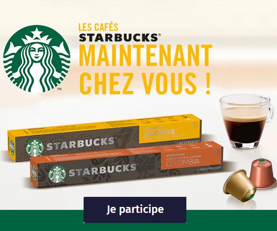Barrettes de Café pour Nespresso de la marque Starbucks